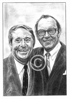 Morecambe and Wise Pencil Portrait