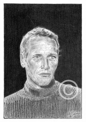 Paul Newman Pencil Portrait